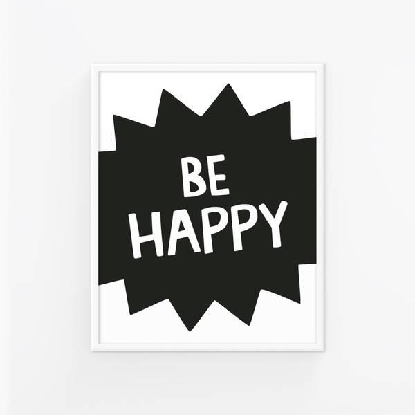 Bilde av BE HAPPY POSTER