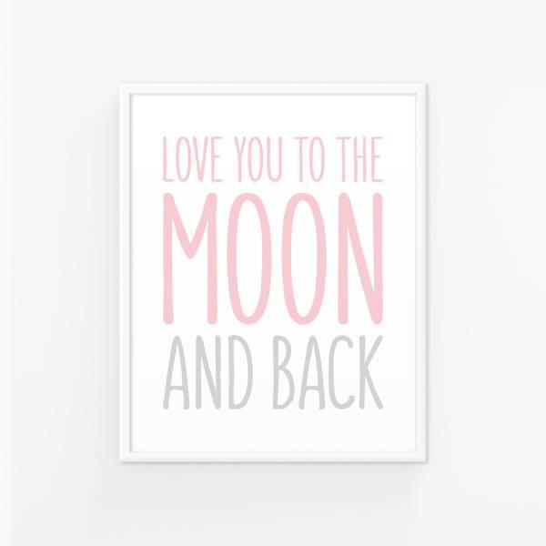 Bilde av LOVE YOU TO THE MOON POSTER