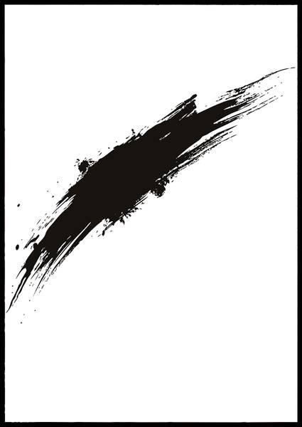 Bilde av black paint no 2 plakat