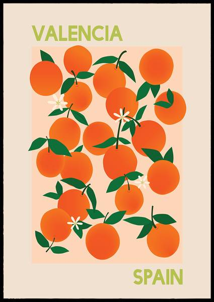 Bilde av Fruit market Valencia Spain plakat