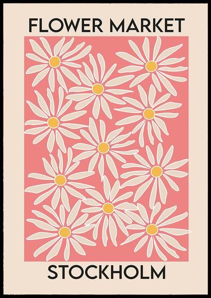 Bilde av Flower market Stockholm plakat