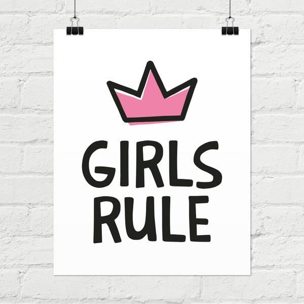 Bilde av GIRLS RULE POSTER