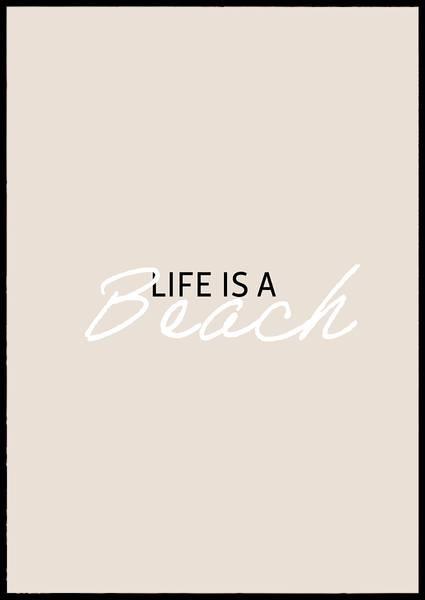 Bilde av Life is a beach plakat