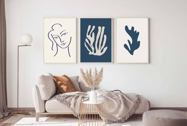 Bilde av Matisse blå no 3 plakat