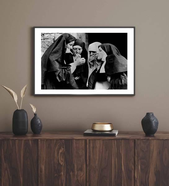 Bilde av Smoking nuns ikonisk plakat