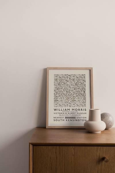 Bilde av William Morris beige kunstplakat