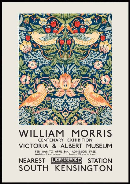Bilde av William Morris birds kunstplakat