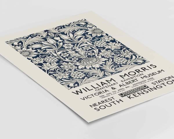 Bilde av William Morris patterns kunstplakat