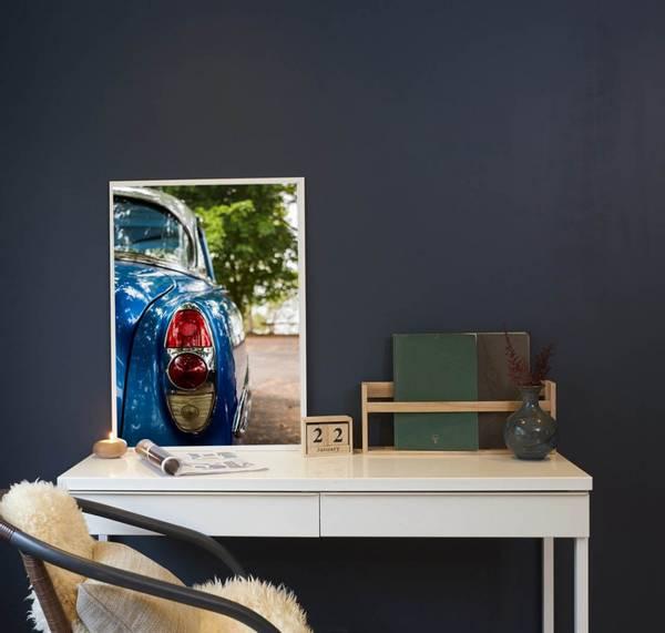 Bilde av RETRO BLUE CAR POSTER