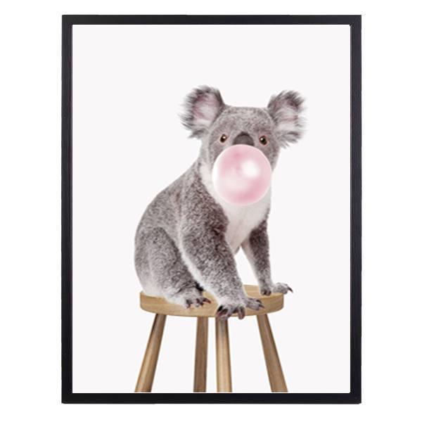 Bilde av KOALA ON STOOL BUBBLE POSTER