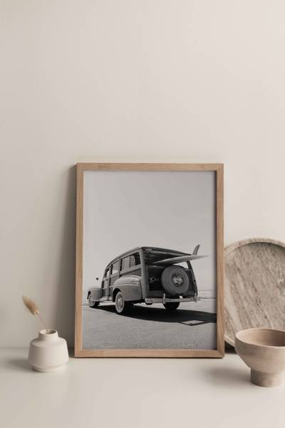 Bilde av Old car plakat
