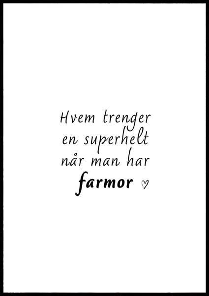 Bilde av SUPERHELT FARMOR PLAKAT