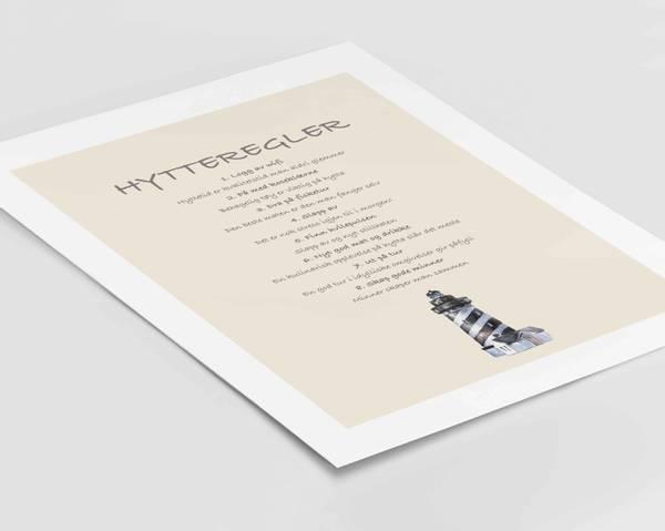 Bilde av Hytteregler sjø plakat