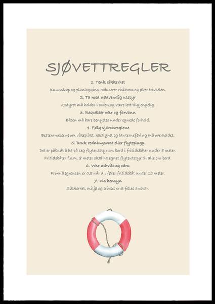 Bilde av Sjøvettregler plakat