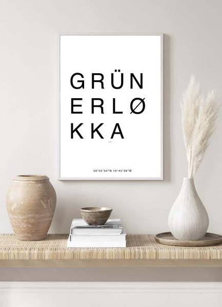 Bilde av GRÜNERLØKKA OSLO POSTER
