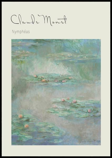 Bilde av Monet Nympheas plakat