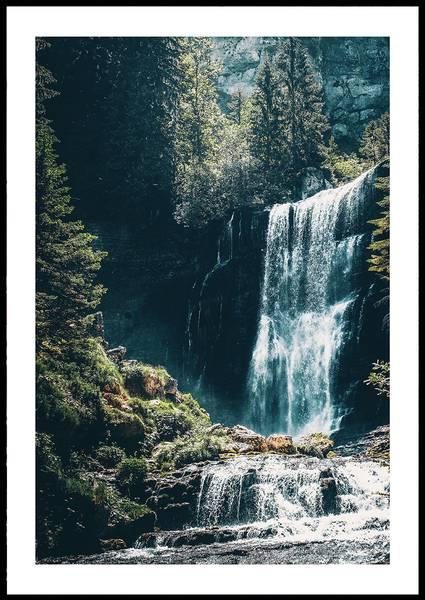 Bilde av Waterfall and sunshine plakat
