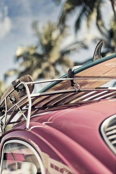 Bilde av VINTAGE SURF CAR POSTER