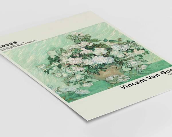 Bilde av Van Gogh roses plakat