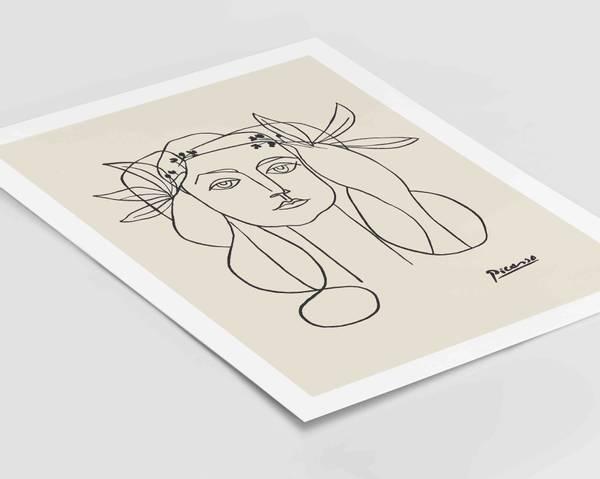 Bilde av Picasso female face plakat