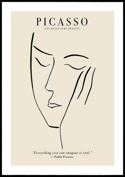 Bilde av Picasso Les Déjeuners Déssin plakat