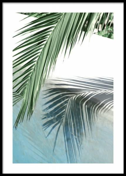 Bilde av POOLSIDE PALM REFLECTION POSTER