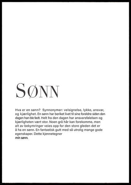 Bilde av SØNN PLAKAT