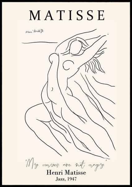 Bilde av Matisse curves kunstplakat