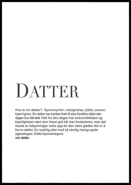 Bilde av DATTER PLAKAT
