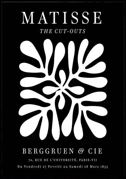 Bilde av Matisse the cut-outs black & white plakat