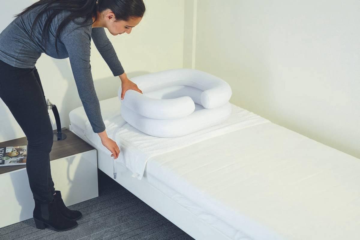 VB Hårvask i seng