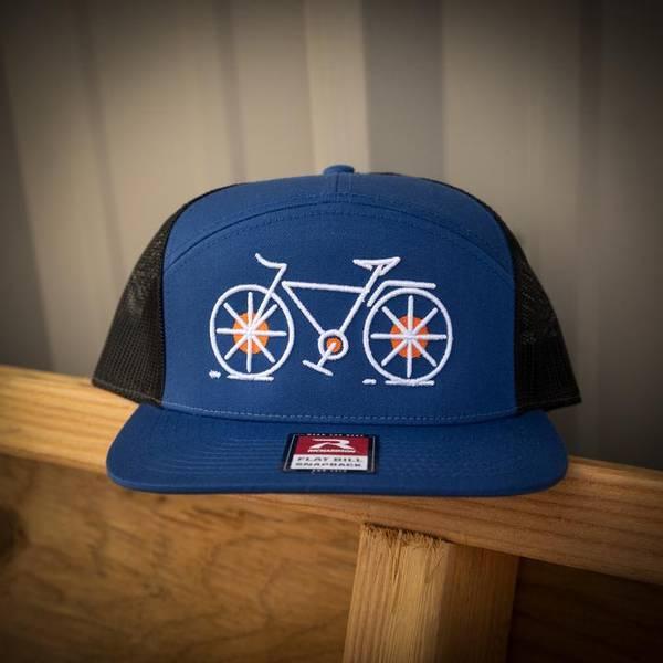 Bilde av Orange Mud Cycling 7 Panel Flatbill Snapback,
