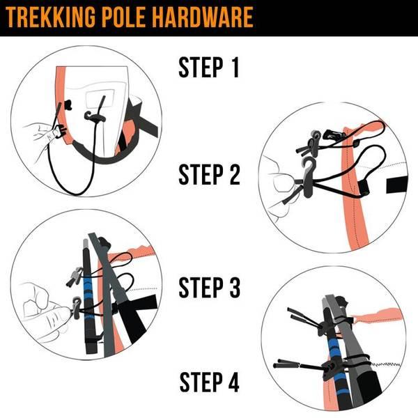 Bilde av Orange Mud Trekking Pole Hardware for Gear Vest