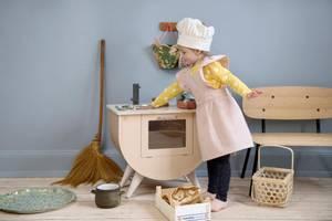 Bilde av SEBRA Barneforkle med kokkelue Dusty Pink