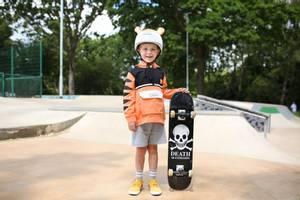 Bilde av DINOSKI Pounce the Tiger Helmet Cover Orange