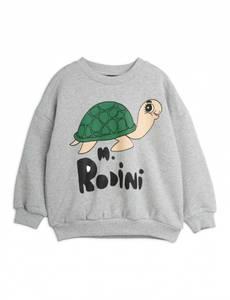 Bilde av MINI RODINI Turtle sweatshirt - Grey melange