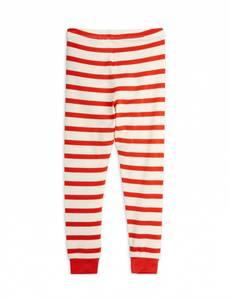 Bilde av MINI RODINI Stripe leggings - Red