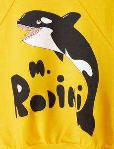 Bilde av MINI RODINI Orca sweatshirt - Yellow