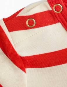 Bilde av MINI RODINI Stripe body - Red