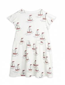 Bilde av MINI RODINI Sailing boats wingdress - White