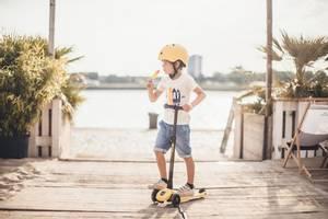Bilde av Scoot&Ride Highwaykick 3 LED Lemon