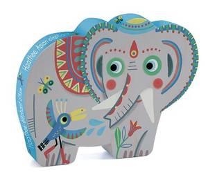 Bilde av DJECO Puslespill 24pcs Elefant