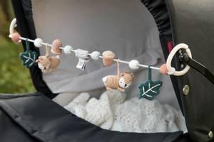 Bilde av SEBRA Heklet oppheng til barnevogn Hjorten Sila