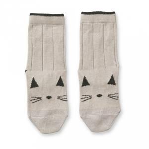 Bilde av Sofia cotton knee socks - 2 pack, Cat sweet rose