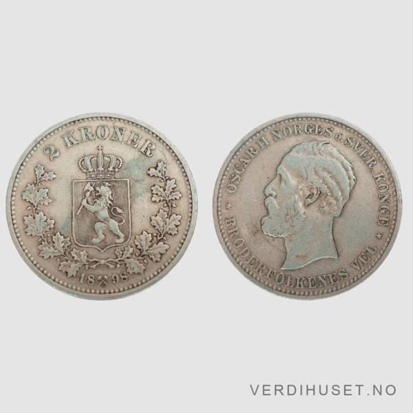 Bilde av 2 Kr 1898 Kv s 1+