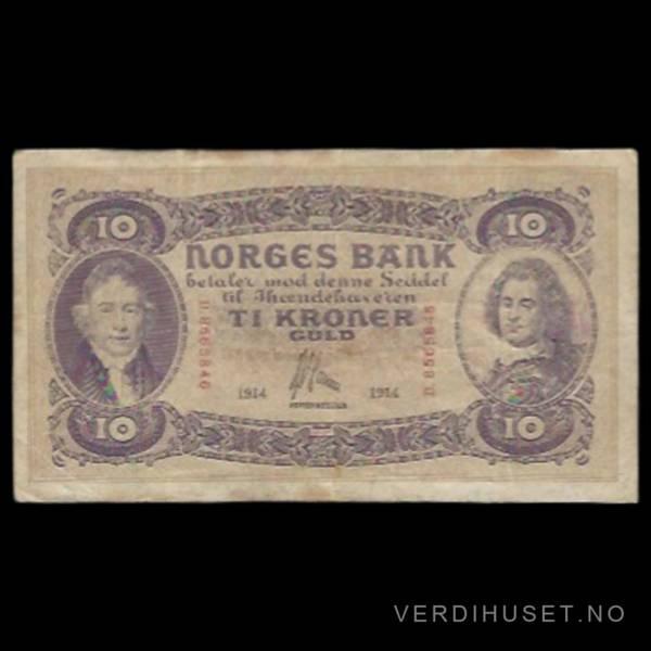Bilde av 10 Kr 1914 D Kv 1- (D.8565846)