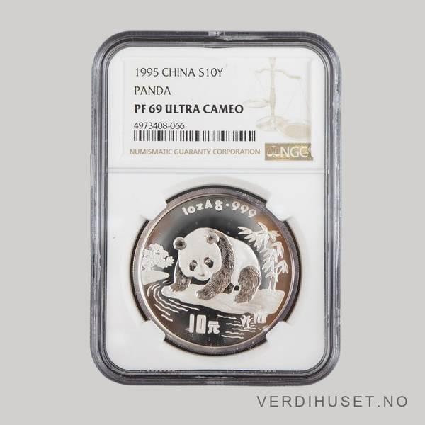 Bilde av 10 Yuan 1995 PF 69 Ultra Cameo - Panda