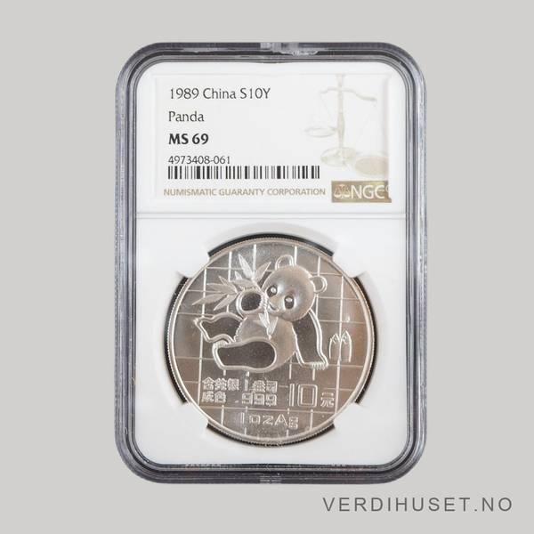 Bilde av 10 Yuan 1989  MS 69 - Panda