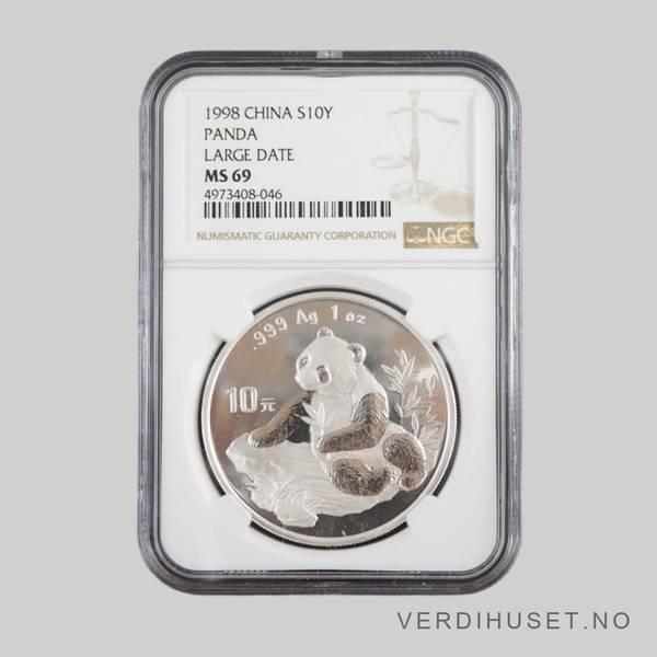 Bilde av 10 Yuan 1998 MS 69 - Panda