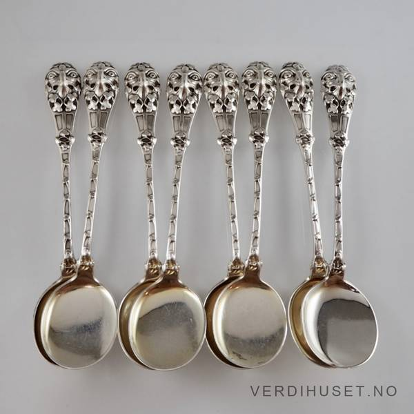 Bilde av Dessertskjeer/Isskjeer i sølv - 8 stk.